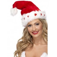 Light Up Santa Christmas Hats