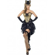 Burlesque Kitty Costume, With Corset and Skirt